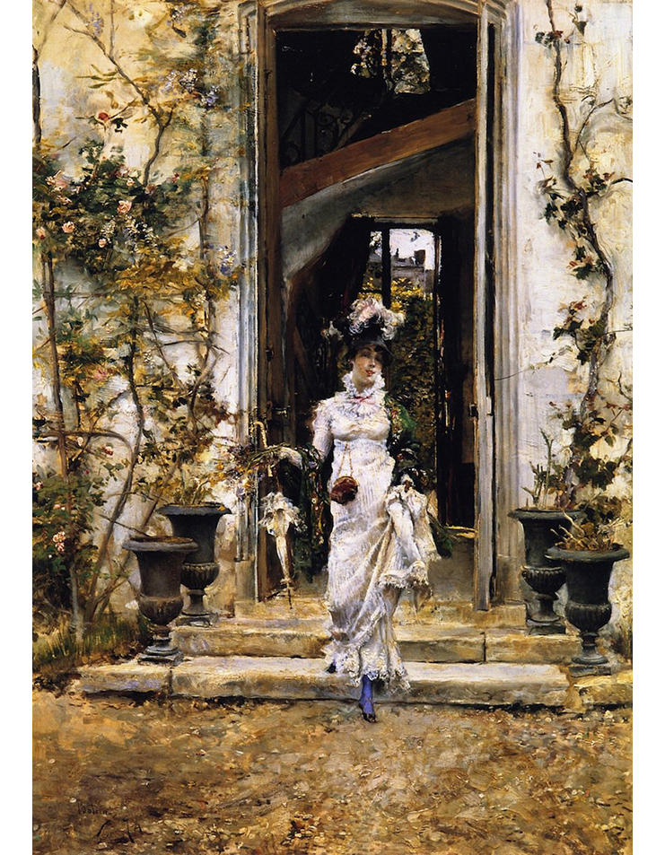 Giovanni Boldini (Ferrara 1842, 1931) Berthe Going for a Walk