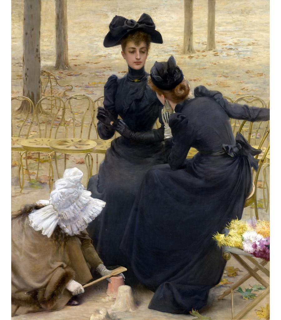 Vittorio Matteo Corcos, Conversazione nel giardino di Luxembourg, 1892