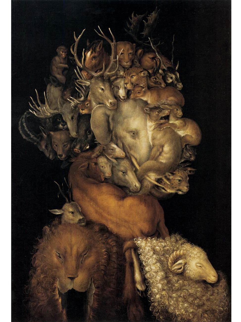 Giuseppe Arcimboldo (Milano 1526 - 1593) I quattro elementi, Terra